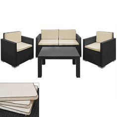 Lounge Set Sitzgruppe Garnitur Gartengarnitur Gartenset Zweisitzer Sessel Tisch