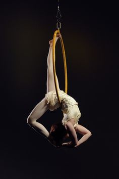 Become a skilled Lyra (also known as aerial hoop) performer, doing it professionally is optional.