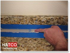Smoothing Caulk With Finger How To Clean Granite Home Repair Countertops Great