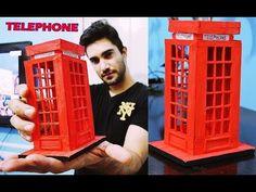Presente Criativo para namorada - Cabine telefonica Londres (Palitos) Elton Donadon - YouTube