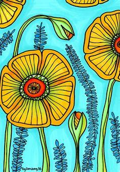 Naive art poppies Naive Art, Folk Art, Poppies, My Arts, Design, Design Comics, Poppy Flowers