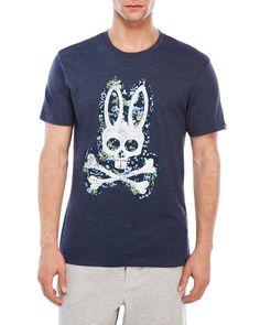 Psycho Bunny Mens Woven Lounge Pant Blue Lavender Bunny Print NWT Medium Large