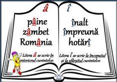 Visual Perceptual Activities, Romanian Language, Teacher Supplies, Alphabet For Kids, School Lessons, Kids Education, Kids And Parenting, Vocabulary, Homeschool