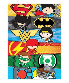 Take a look at this Justice League Cartoon MightyPrint™ Wall Art today!