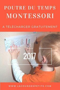 La poutre du temps Montessori est un outil idéal pour aider les enfants à visualiser le temps qui passe. Explications et supports à télécharger gratuitement.
