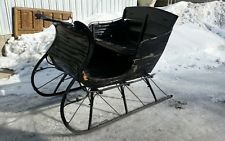 Antique, Sleigh Horsedrawn / with eagle head front corner pieces