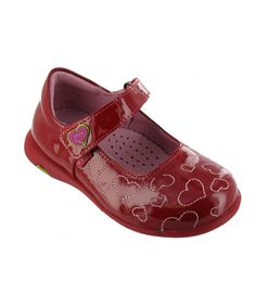 Red Patent Kiddie Heart Mary Jane. These r just too cute