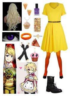 Designer Clothes, Shoes & Bags for Women Chica Costume, Fnaf Costume, Fnaf Cosplay, Cosplay Diy, Cosplay Outfits, Best Cosplay, Cosplay Costumes, Anime Inspired Outfits, Disney Inspired Fashion