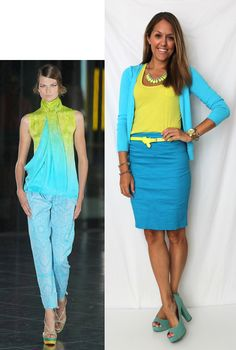 love the colours - this website has sensible ($$$) outfits inspired by pricey/designer things.