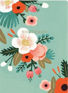 love this background color plus the bright accents with browns and teals