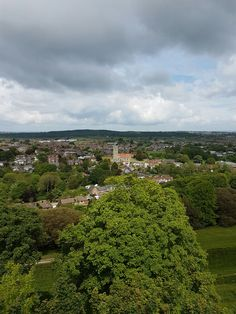 View from Carisbrooke Castle keep