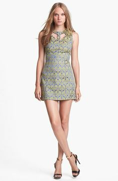 ASTR Cutout Jacquard Minidress available at #Nordstrom