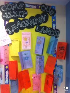 The Phantom Tollbooth Activity Board- students created an imaginary brochure of the land and places they would like to visit in the Phantom Tollbooth novel.