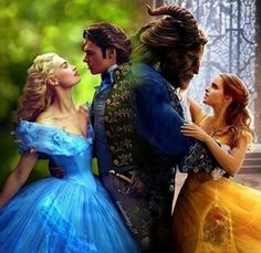 Imagen de beauty and the beast and cinderella