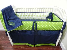 Baby Bedding Crib Set Charlie - Giraffes with Lime and Navy : Just Baby Designs, Custom Baby Bedding Custom Crib Bedding Custom Nursery Bedding