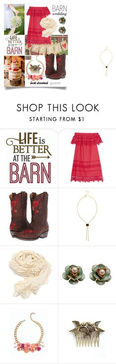 """Life is Better at the Barn"" by sjboster on Polyvore featuring Sea, New York, Old Gringo, Talbots, bestdressedguest and barnwedding"