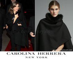 Queen Letizia wore Carolina Herrera Cape newmyroyals.com