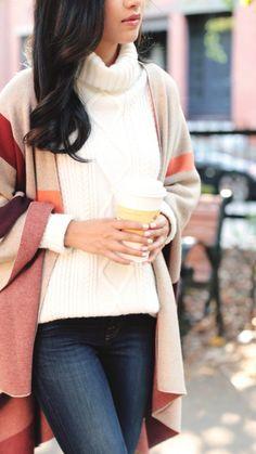 79406a03c918 Coffee Poncho Sweater