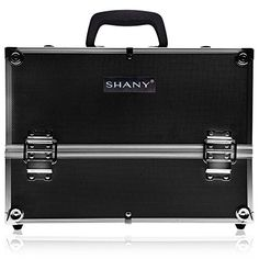SHANY Essential Pro Makeup Train Case with Shoulder Strap and Locks  Jet black >>> Details can be found by clicking on the image.