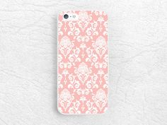 Damask peach pink Elegant Vintage phone case for iPhone 6, 6 plus, Sony z1 z2 z3…