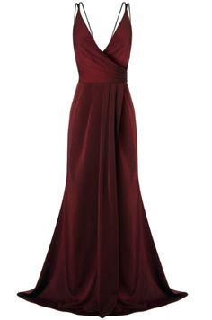 V Neck Burgundy Prom Dress Pretty Dresses, Beautiful Dresses, Gala Dresses, Fashion Night, Formal Gowns, Dream Dress, Couture Fashion, Evening Dresses, Ideias Fashion