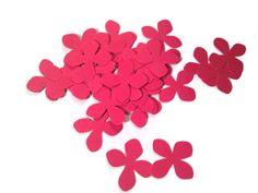 Paper Flowers Scrapbooking or Card Embellishment Handmade Flower Die Cuts Hydrangeas