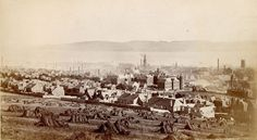 A very old view of Dundee from the Dundee Law Dundee Map, Dundee City, West End, Historical Photos, Glasgow, Great Britain, Old Photos, Paris Skyline, Scotland