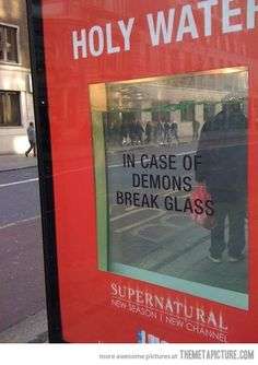 Supernatural, you are doing it right…