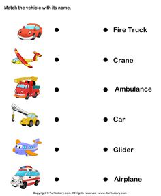 occupations vehicles matching activity vehicle activities and community helpers. Black Bedroom Furniture Sets. Home Design Ideas