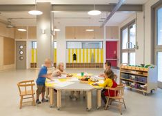 Nicholas Kirk Architects planned and executed a premier renovation for Bermondsey Community Nursery in London, England. Bermondsey Community Nursery has been transformed into a light, bright … Nook And Cranny, Learning Spaces, Kid Spaces, Nursery, Community, Education, Classroom Table, Home, Design