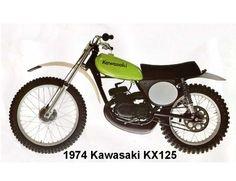 1974 Kawasaki KX125  Motorcycle  Refrigerator / Tool Box Magnet