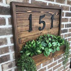 Oh Hello There Porch Sign, Welcome Porch Sign, Vertical Porch Sign, Farmhouse Porch Decor Porch Inspiration Front Porch Planters, Rustic Planters, Front Porch Signs, Indoor Planters, Diy Planters, Front Porches, Front Porch Garden, Front Porch Flowers, Porch Wall Decor