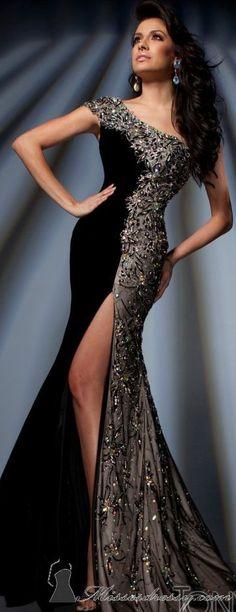 Tony Bowls couture jean dress#2dayslook #maria257893 #jeansfashion ww.2dayslook.com