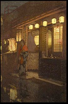 Hiroshi Yoshida (Sep 19, 1876 - April 5, 1950) 20th-century Japanese Painter  Woodblock Print Maker. Regarded among greatest artists of shin-hanga style; noted especially for his excellent landscape prints. Yoshida travelled widely,  is particularly known for images of non-Japanese subjects done in traditional Japanese woodblock style, including Taj Mahal,  Swiss Alps,  Grand Canyon,  other National Parks in USA. Wikipedia http://4.bp.blogspot.com