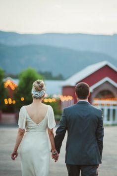 Unique shot of the bride and groom. Cute idea for a wedding photo!   From the Hip Photo   #wedding #photos #colorado