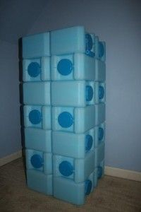 Water bricks make storing water easier in smaller spaces. You can never have enough water