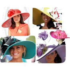 Derby Hats, created by squareviewstudios on Polyvore