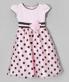 Love this Pink & Black Polka Dot Dress - Toddler & Girls on #zulily! #zulilyfinds