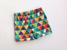 Multi Color Triangle Organic Knit Bloomer Shorts for by MagPlusPie, $25.00