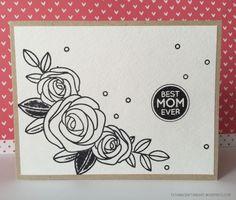 Best Mom Card (Project for Children). Used #SSSFAVE Best Mom Ever stamp set.