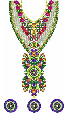 Jalabiya Neck Embroidery Designs