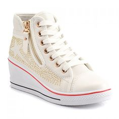 Studded Converse Inspired Fashion Sneakers
