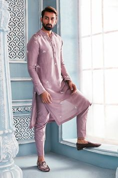 Shop Mahima Mahajan - Men Embroidered Kurta Set , Exclusive Indian Designer Latest Collections Available at Aza Fashions Mens Wedding Wear Indian, Indian Wedding Clothes For Men, Wedding Kurta For Men, Mens Indian Wear, Mens Ethnic Wear, Indian Groom Wear, Wedding Dress Men, Indian Men Fashion, Wedding Outfits For Men