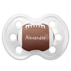 Personalized Football Baby Pacifiers