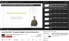 Un excelente curso gratuito de Excel, ofrecido por la Universidad Politécnica de Valencia, que se compone de un total de 77 vídeos en español.