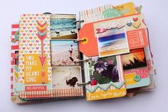 AMAZING minibook by Suzy Plantamura using Dear Lizzy Lucky Charm
