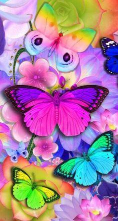 ¡Mariposas coloridas! | Colorful butterflies!  - #arcoiris #rainbow