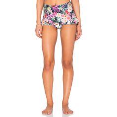 Wildfox Couture Fairy Wall High Waist Bikini Bottom (4,945 INR) ❤ liked on Polyvore featuring swimwear, bikinis, bikini bottoms, highwaisted bikini bottoms, print swimwear, high waisted bikini, patterned bikini and wildfox bikini