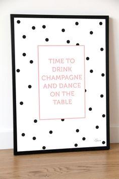 Plakat typograficzny CHAMPAGNE
