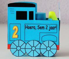 Thomas de trein traktatie.  www.annekoendigitaal.nl